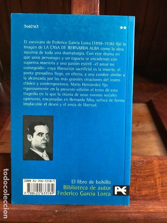 Libros de segunda mano: La casa de Bernarda Alba. Federico García Lorca. Alianza - Foto 2 - 189997247