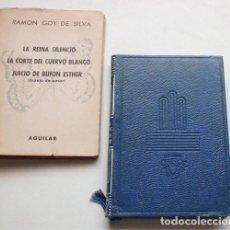 Libros de segunda mano: TEATRO ESCOGIDO. GOY DE SILVA. AGUILAR. CRISOL, Nº.391. PRIMERA EDICIÓN 1955. CON SOBRECUBIERTA. Lote 190170427