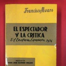 Libros de segunda mano: EL ESPECTADOR Y LA CRITICA - EL TEATRO EN ESPAÑA EN 1976 - AÑO XIX - PRENSA ESPAÑOLA 1977. Lote 191246017