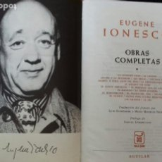 Libros de segunda mano: EUGENE IONESCO. OBRAS COMPLETAS. AGUILAR 1973. TOMO I.. Lote 193609997