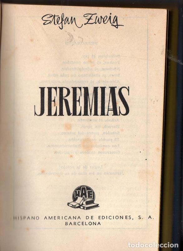 JEREMÍAS (STEFAN ZWEIG) (Libros de Segunda Mano (posteriores a 1936) - Literatura - Teatro)
