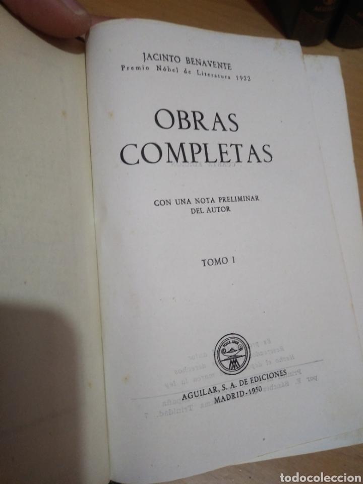 Libros de segunda mano: Benavente-Obras Completas-Ediciones Aguilar-Tomo I al IX !Faltan 2 Tomos! - Foto 3 - 194201703