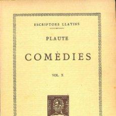 Libros de segunda mano: COMÈDIES, VOL. X - RUDENS - PLAUTE / MARÇAL OLIVAR - TIPOGRAFIA EMPORIUM / FUNDACIÓ BERNAT METGE. Lote 194259136