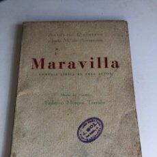 Libros de segunda mano: MARAVILLA. Lote 194405532