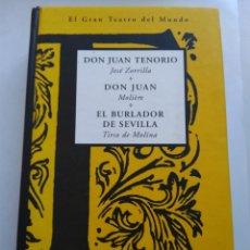 Libros de segunda mano: DON JUAN TENORIO/DON JUAN/EL BURLADOR DE SEVILLA. Lote 194541403
