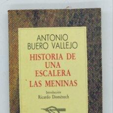 Libros de segunda mano: HISTORIA DE UNA ESCALERA- LAS MENINAS ANTONIO BUERO VALLEJO. Lote 194580341
