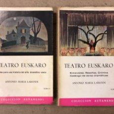 Libros de segunda mano: TEATRO EUSKARO (2 TOMOS). ANTONIO MARÍA LABAYEN. COLECCIÓN AUÑAMENDI N° 42 Y 43 (1965). ILUSTRADO. Lote 194671492