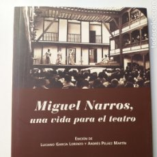 Libros de segunda mano: MIGUEL NARROS UNA VIDA PARA EL TEATRO .. Lote 194769880