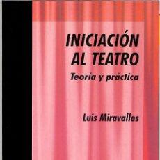 Libros de segunda mano: INICIACIÓN AL TEATRO - LUIS MIRAVALLES RODRÍGUEZ - EDITORIAL SAN PABLO - APRENDER 17. Lote 194810542