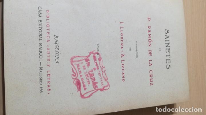 Libros de segunda mano: SAINETES RAMON DE LA CRUZ - TOMO II - MAUCCI 1943M401 - Foto 8 - 194916086