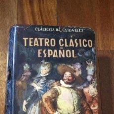 Libros de segunda mano: TEATRO CLÁSICO ESPAÑOL. CLÁSICOS INOLVIDABLES. EDITORIAL ATENEO. Lote 195200597
