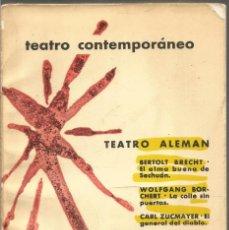 Libros de segunda mano: TEATRO ALEMAN CONTEMPORANEO. AA.VV. AGUILAR. Lote 195478980
