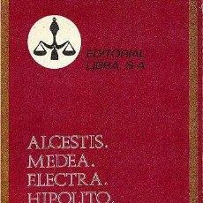 Libros de segunda mano: ALCESTIS. MEDEA. ELECTRA. HIPÓLITO (EURÍPIDES). Lote 195482820