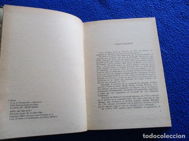 Libros de segunda mano: CARLO GOLDONI Teatro Promocion y Ediciones 1985 - Foto 5 - 200242990