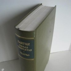 Libros de segunda mano: SARTRE. OBRAS COMPLETAS. TEATRO. BIBLIOTECA DE AUTORES MODERNOS. TOMO I. AGUILAR. TRAD. A. SASTRE.. Lote 210127405
