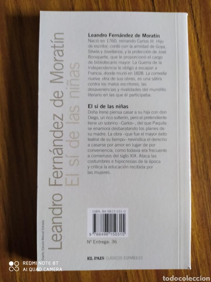 Libros de segunda mano: El sí de las niñas, de Leandro Fernández de Moratín. - Foto 2 - 202104811