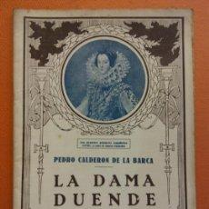 Libros de segunda mano: LA DAMA DUENDE. PEDRO CALDERON DE LA BARCA. EL TEATRO Y LA NOVELA. Lote 202566183