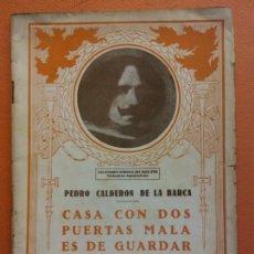Libros de segunda mano: CASA CON DOS PUERTAS MALA ES DE GUARDAR. PEDRO CALDERON DE LA BARCA. EL TEATRO Y LA NOVELA. Lote 202566255