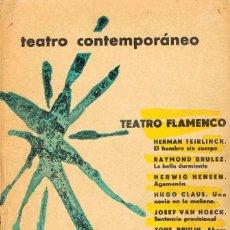 Libros de segunda mano: TEATRO BELGA CONTEMPORÁNEO, VER CONTENIDO. Lote 203433972