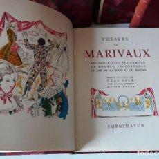 Libros de segunda mano: THEATRE DE MARIVAUX - LAMINAS EN COLOR DE GRAU SALA - 1956 - 2 VOLS.. Lote 205554726