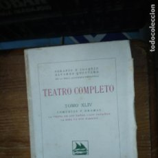 Libros de segunda mano: TEATRO COMPLETO (TOMO XLIV). L.36-377. Lote 205655852