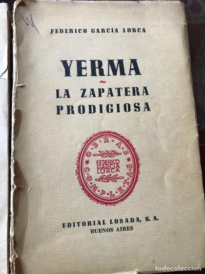 DOS OBRAS DE FEDERICO GARCÍA LORCA BODAS DE SANGRE, YERMA Y LA ZAPATERA PRODIGIOSA (Libros de Segunda Mano (posteriores a 1936) - Literatura - Teatro)