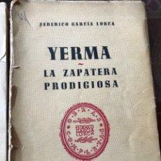 Libros de segunda mano: DOS OBRAS DE FEDERICO GARCÍA LORCA BODAS DE SANGRE, YERMA Y LA ZAPATERA PRODIGIOSA. Lote 205668348