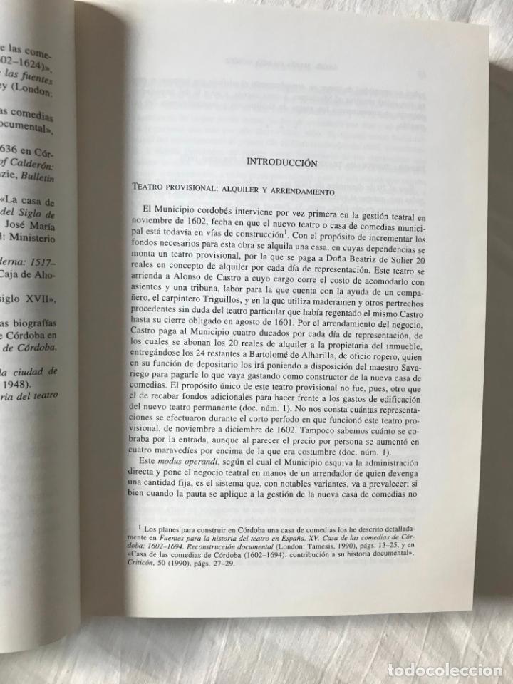 Libros de segunda mano: Actividad teatral en Córdoba y arrendamientos. Ángel Mª García, DIPUTACION DE CORDOBA 1999 - Foto 5 - 205734207