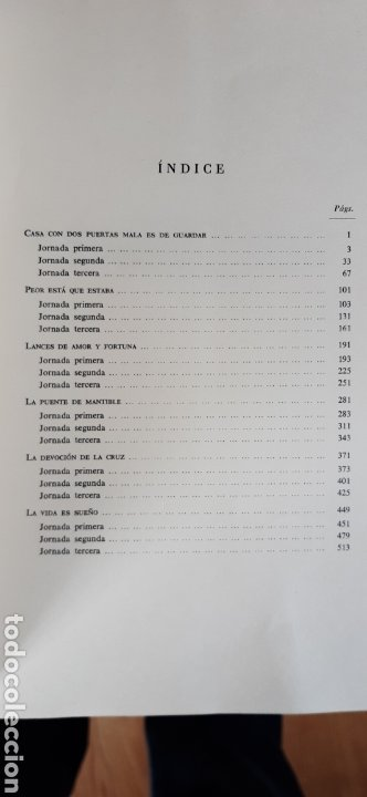 Libros de segunda mano: COMEDIAS DE DON PEDRO CALDERÓN DE LA BARCA 2 VOLS. - 1974 - 1981 - SIN USAR JAMÁS. - Foto 5 - 34263402
