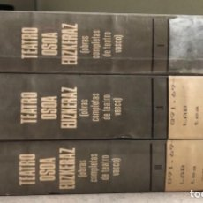 Libros de segunda mano: TEATRO OSOA EUZKERAZ (OBRAS COMPLETAS DE TEATRO VASCO). ANTONIO LABAYEN. 3 TOMO (1977).. Lote 208794250