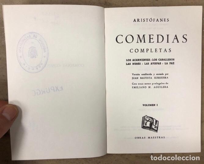 Libros de segunda mano: ARISTÓFANES COMEDIAS COMPLETAS. TOMOS I y II. OBRAS MAESTRAS EDITORIAL IBERIA 1976. - Foto 3 - 209069351