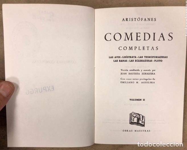 Libros de segunda mano: ARISTÓFANES COMEDIAS COMPLETAS. TOMOS I y II. OBRAS MAESTRAS EDITORIAL IBERIA 1976. - Foto 9 - 209069351