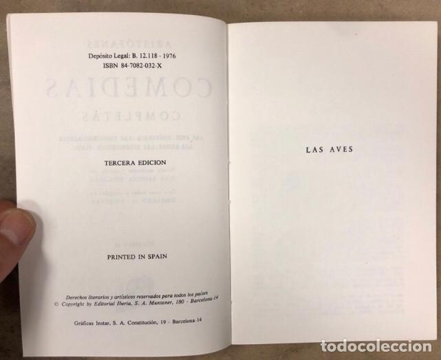 Libros de segunda mano: ARISTÓFANES COMEDIAS COMPLETAS. TOMOS I y II. OBRAS MAESTRAS EDITORIAL IBERIA 1976. - Foto 10 - 209069351