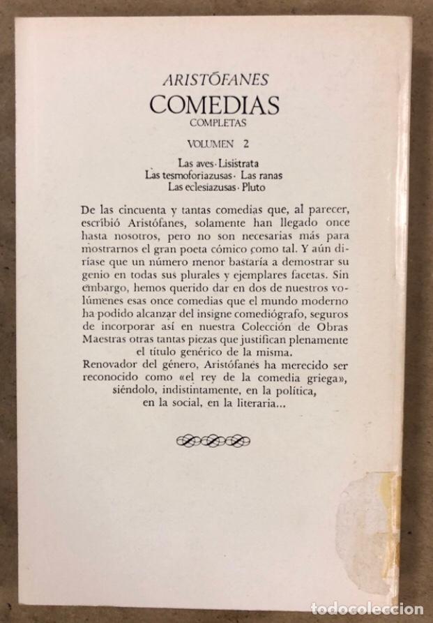 Libros de segunda mano: ARISTÓFANES COMEDIAS COMPLETAS. TOMOS I y II. OBRAS MAESTRAS EDITORIAL IBERIA 1976. - Foto 14 - 209069351