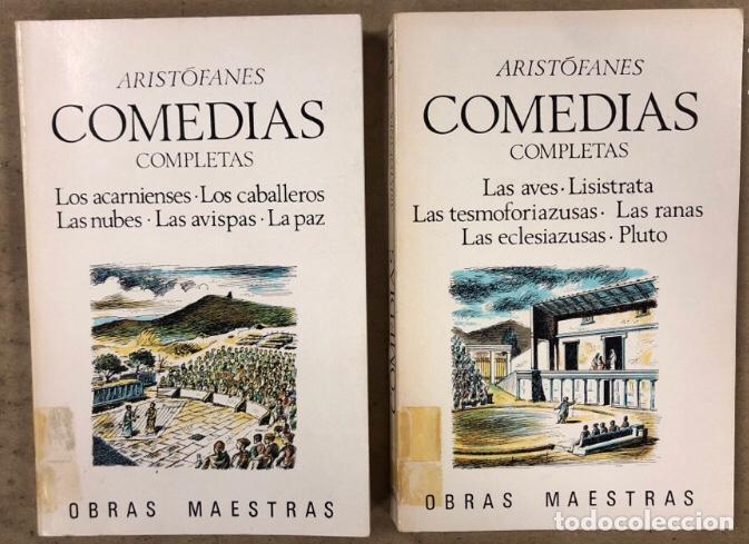 ARISTÓFANES COMEDIAS COMPLETAS. TOMOS I Y II. OBRAS MAESTRAS EDITORIAL IBERIA 1976. (Libros de Segunda Mano (posteriores a 1936) - Literatura - Teatro)