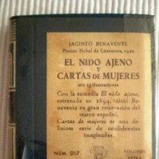 Libros de segunda mano: EL NIDO AJENO Y CARTAS DE MUJERES (BENAVENTE) CRISOLÍN 017 AZUL. 1961. PRECINTO DE ORIGEN. Lote 209165520