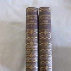 Libros de segunda mano: ALEJANDRO CASONA. OBRAS COMPLETAS I Y II. AGUILAR 1961.. Lote 209304093