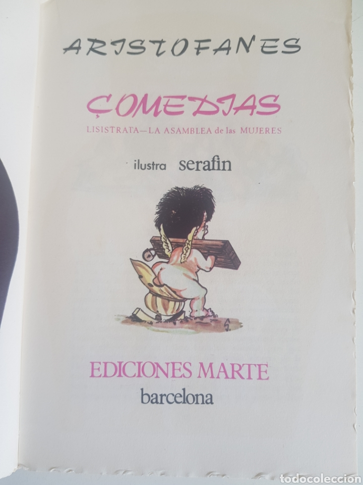 ARISTOFANES COMEDIAS ILUSTRA SERAFIN (Libros de Segunda Mano (posteriores a 1936) - Literatura - Teatro)