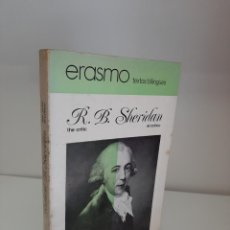 Libros de segunda mano: EL CRITICO-THE CRITIC, RICHARD B. SHERIDAN, ERASMO TEXTOS BILINGUES, TEATRO-COMEDIA / THEATRE-COMEDY. Lote 209911055