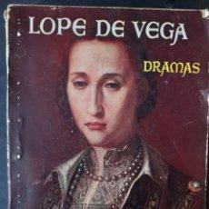 Libros de segunda mano: DRAMAS - LOPE DE VEGA (1940, 1ª ED.). Lote 210454235