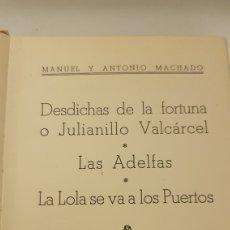 Libros de segunda mano: MANUEL Y ANTONIO MACHADO. 3 OBRAS. 1940. Lote 212386368