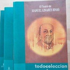 Libros de segunda mano: EL TEATRO DE MANUEL LINARES RIVAS. 3 TOMOS. Lote 212523956