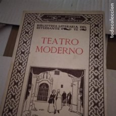 Libros de segunda mano: TEATRO MODERNO. BIBLIOTECA LITERARIA DEL ESTUDIANTE, TOMO VII. - JULIA MARTINEZ, EDUARDO. Lote 214430635