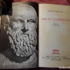 Libros de segunda mano: OBRAS COMPLETAS, DE ESQUILO Y SOFOCLES. EL ATENEO (ARGENTINA), DE 1957. TRAGEDIA GRIEGA CLÁSICA. Lote 215121498