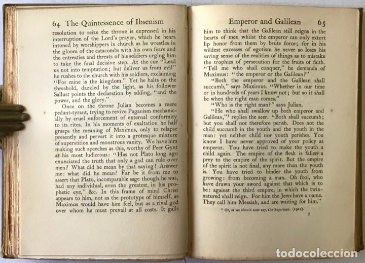 Libros de segunda mano: THE QUINTESSENCE OF IBSENISM. NOW COMPLETED TO THE DEATH OF IBSEN. - SHAW, Bernard. - Foto 3 - 123248183