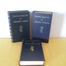 Libros de segunda mano: TEATRO SELECTO - JAIME SALOM, FEDERICO GARCIA LORCA Y ALEJANDRO CASONA - ESCELICER 1969/71/72. Lote 216593427