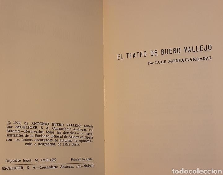 Libros de segunda mano: Teatro selecto, Antonio Buero Vallejo. Editorial Escelicer, S.A., 1972 - Foto 5 - 217049483