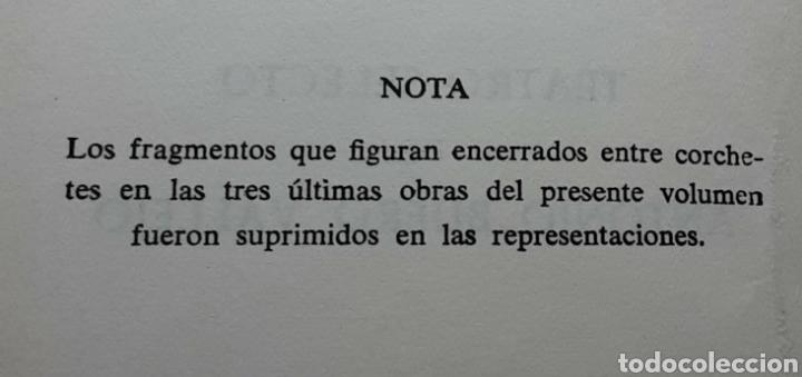 Libros de segunda mano: Teatro selecto, Antonio Buero Vallejo. Editorial Escelicer, S.A., 1972 - Foto 8 - 217049483