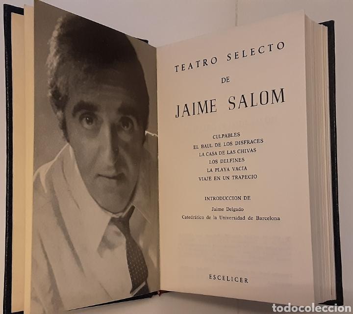 Libros de segunda mano: Teatro selecto, Jaime Salom. Editorial Escelicer, 1971 - Foto 2 - 217050336