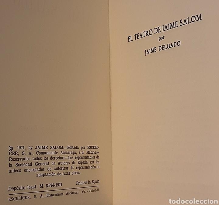 Libros de segunda mano: Teatro selecto, Jaime Salom. Editorial Escelicer, 1971 - Foto 9 - 217050336
